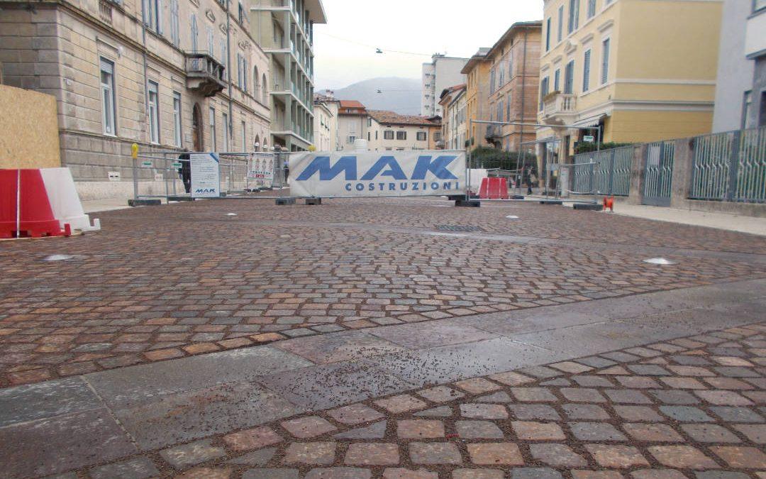 Completati i lavori del secondo stralcio di via Dante a Rovereto