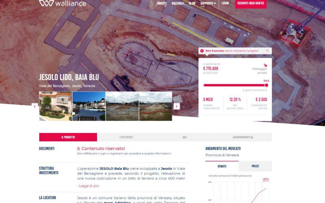 Baia Blu Jesolo: prima exit dell'equity crowdfunding in Italia